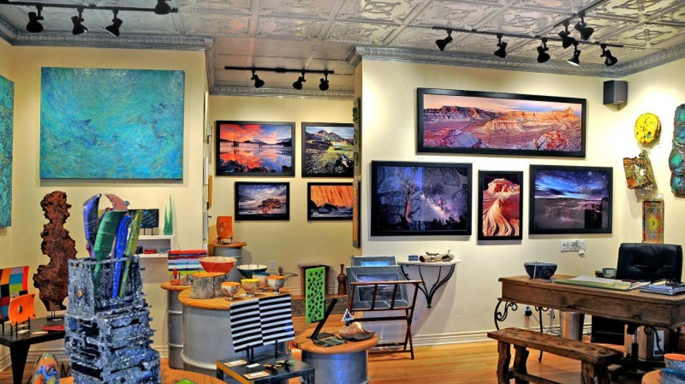 Local artists are featured in this beautifully renovated gallery. – Donna Chesler
