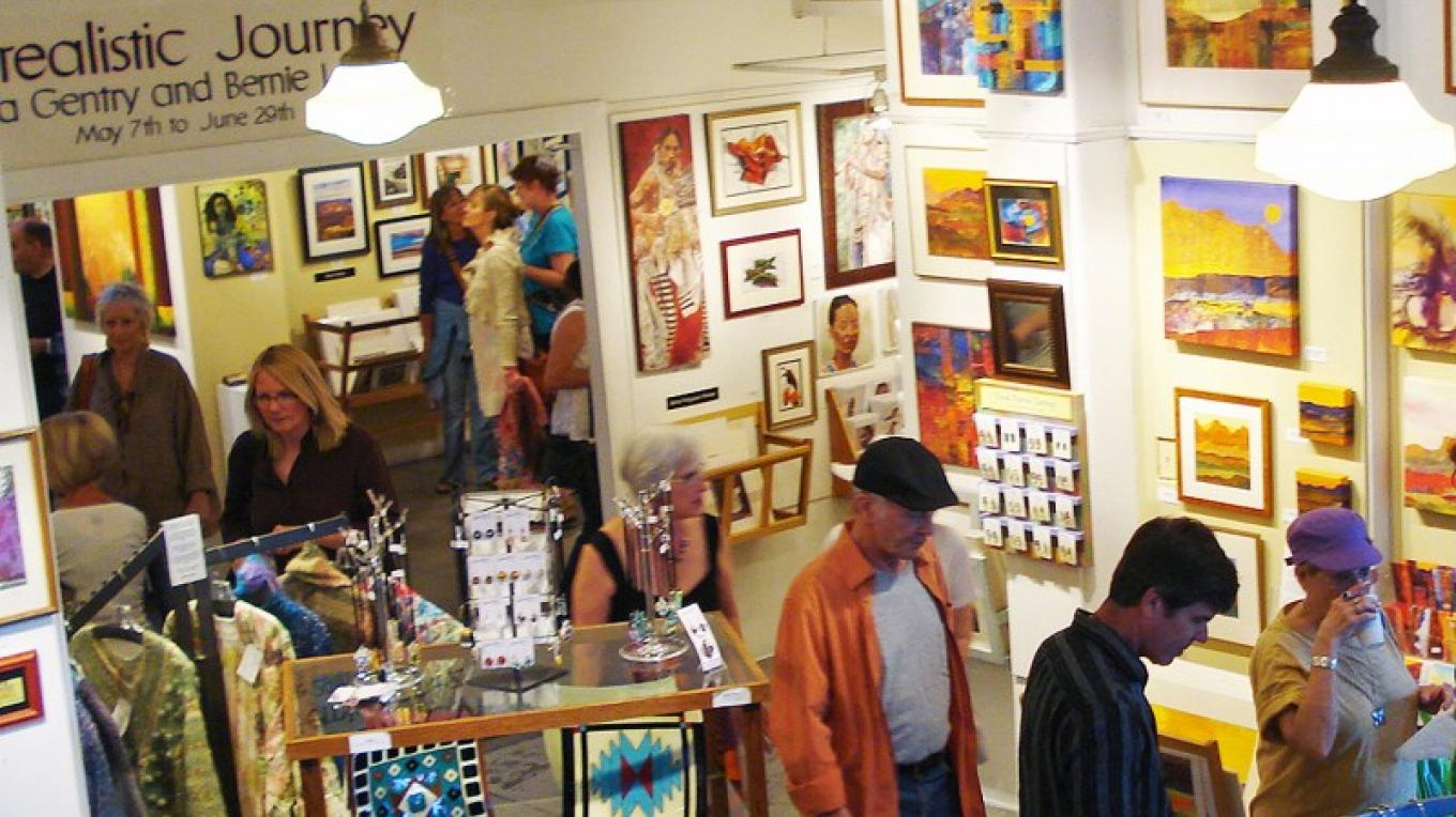 The Jerome Artist's Cooperative Gallery is home to many talented local artists. – Sandy Booth
