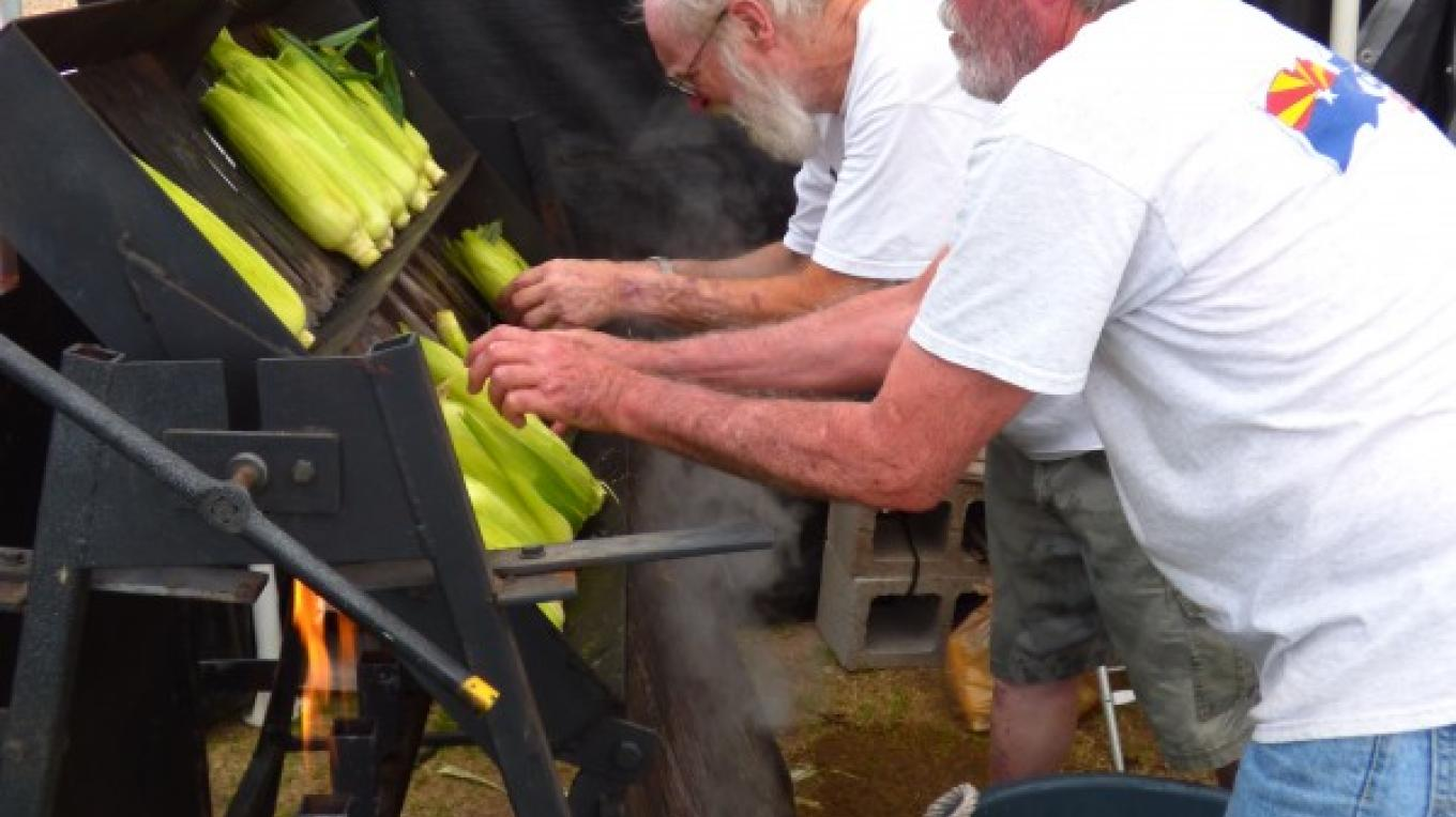Lots of the best roasted corn in the state – T. B. Thorson