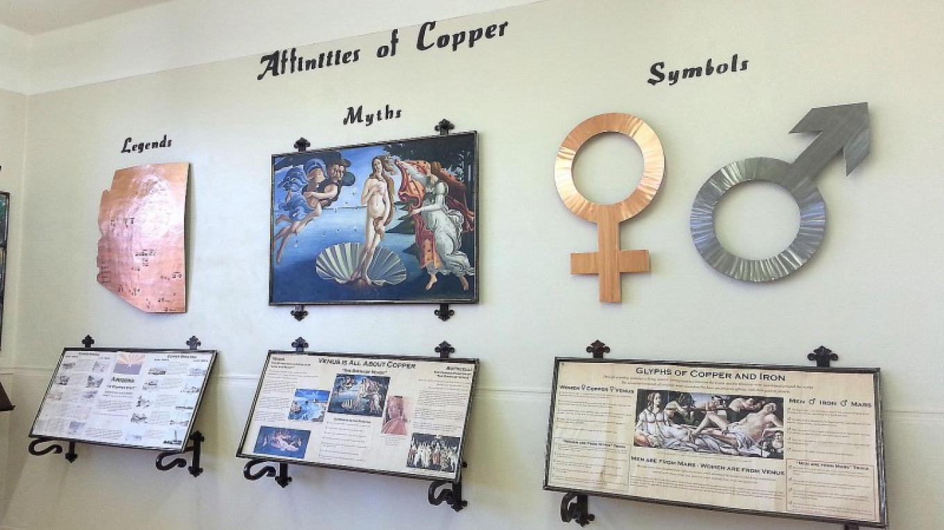Information room is to reveal copper's history, locations, affinities, mysteries, and how copper and its ore was used for other purposes. – Arizona Copper Art Museum