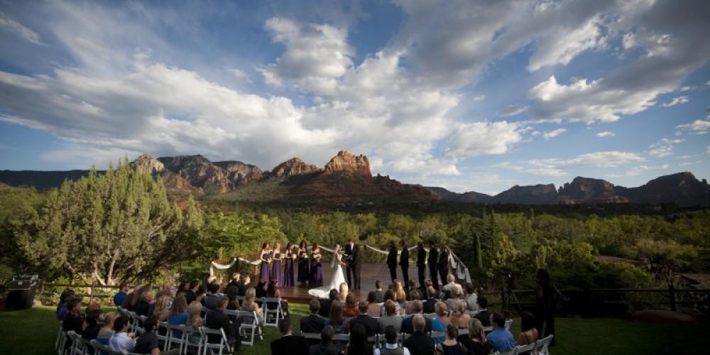 Wedding at L'Auberge Spirit Song Terrace