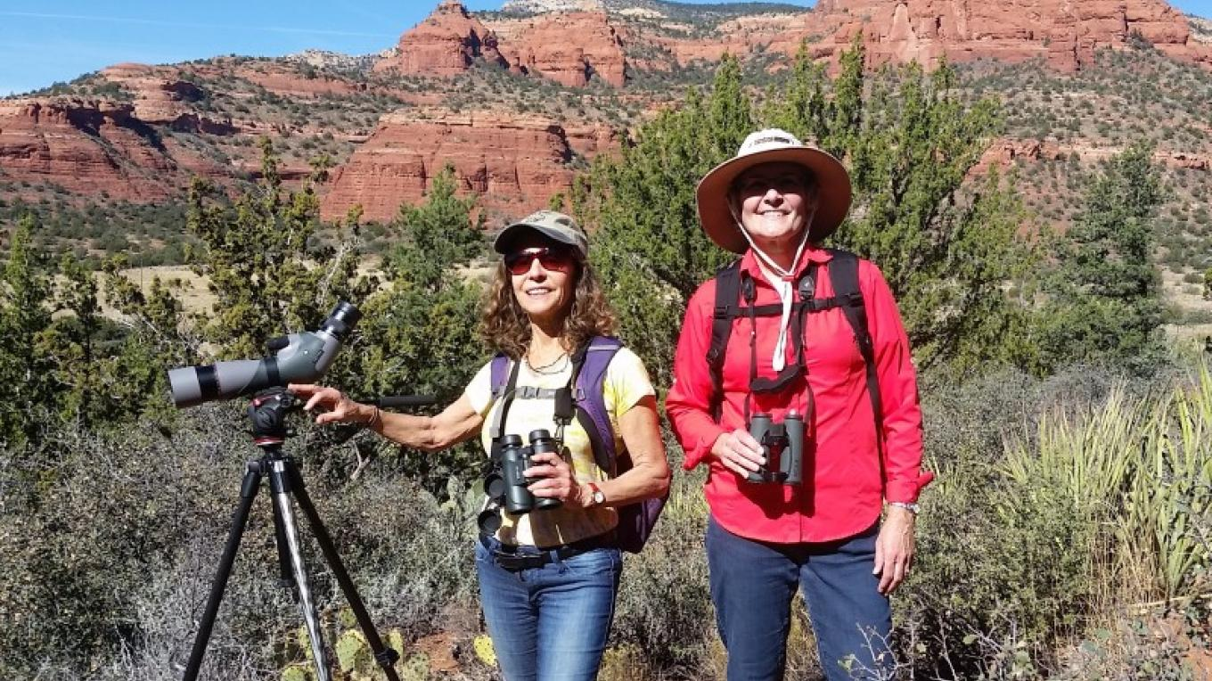 Another successful day of birding in the Red Rocks on the Doe Mountain Trail. – Timothy T Weber