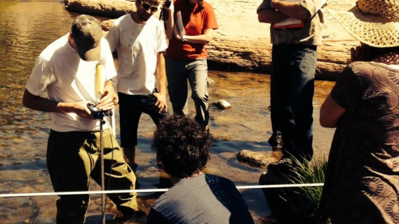 Water sampling in Oak Creek – Marie McCormick