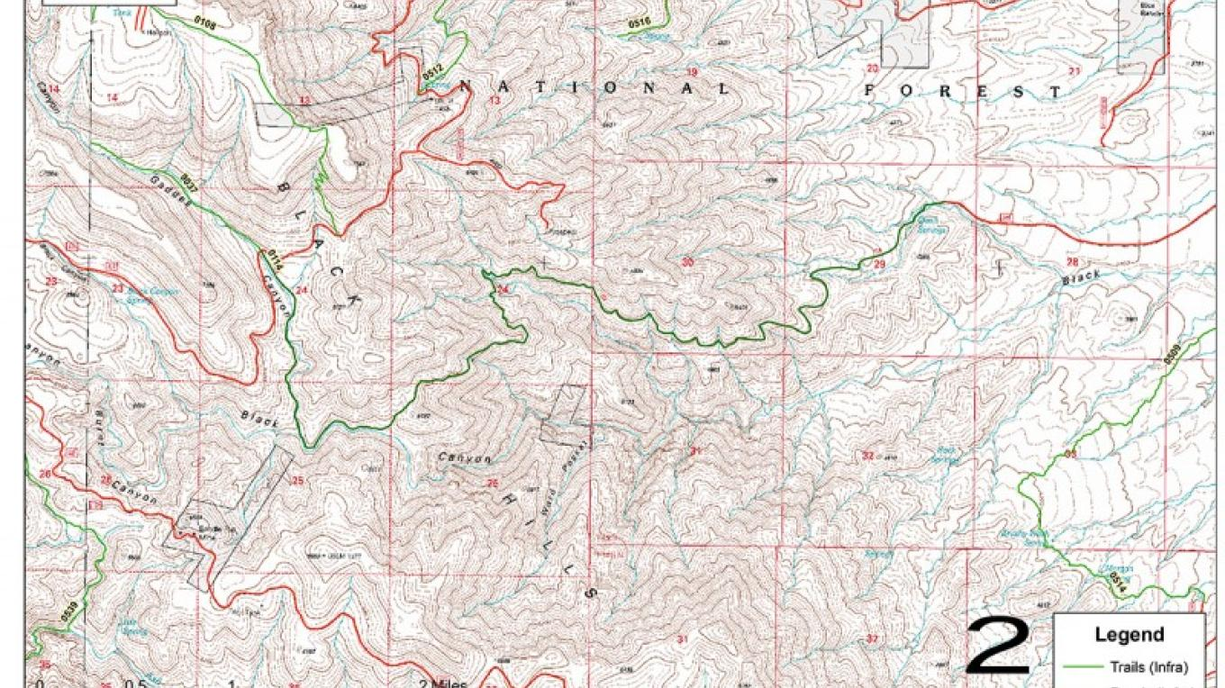 Trail map – USDA Forest Service
