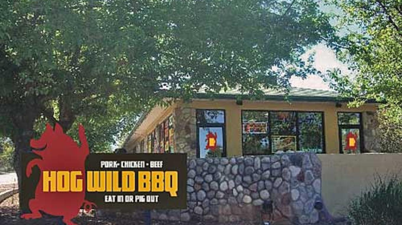 Located right at the entrance to Old Town Cottonwood – Hog Wild BBQ