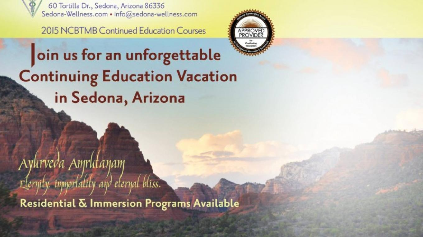 Sedona Wellness is a NCBTMB certified school. Rest and Rejuvenate while receiving your CEU's!