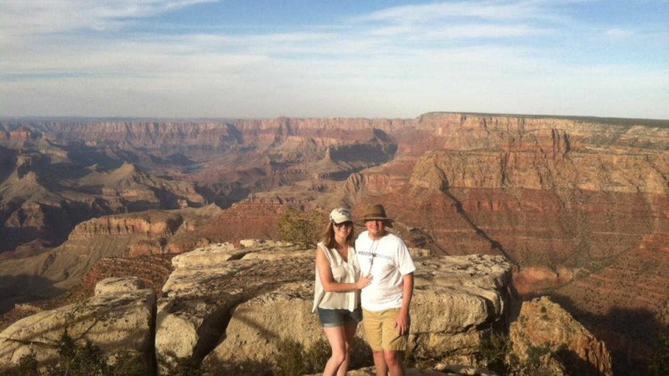 Clients enjoying the Grand Canyon. – Jim Reich