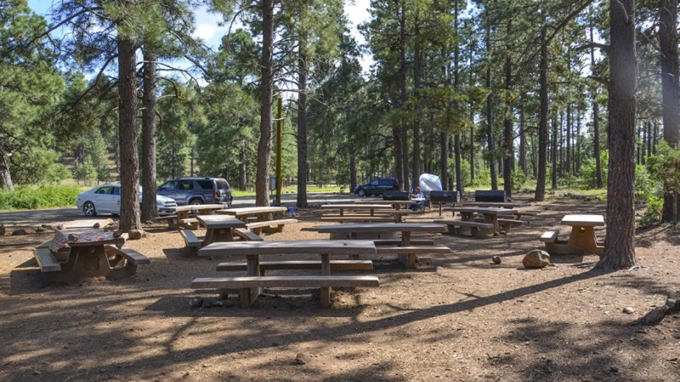 Playground Group Campground can accommodate groups of up to 100 people. – USDA Forest Service
