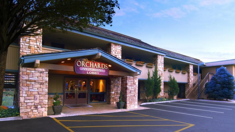 Orchards Inn Entrance – Leon Lucero