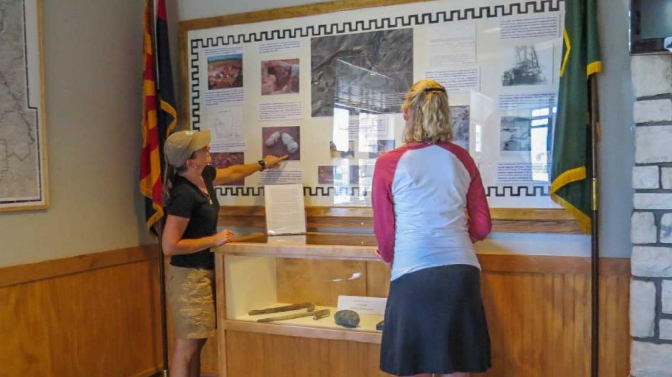 Visit the interpretive display focused on the pre-history of the Verde Valley. – USDA Forest Service