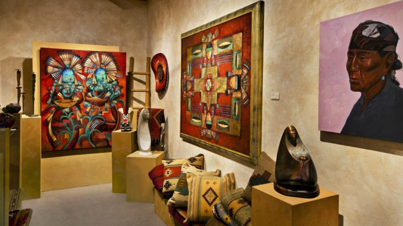 Works by internationally acclaimed artists such as Tony Abeyta, David Johns and Larry Yazzie are represented. – courtesy Turquoise Tortoise Gallery