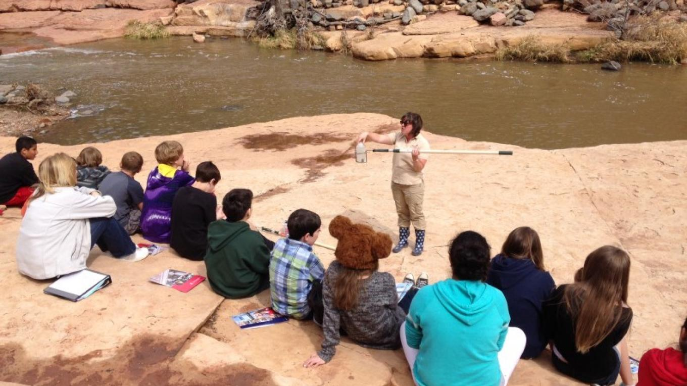 Water education at Slide Rock State Park – Marie McCormick