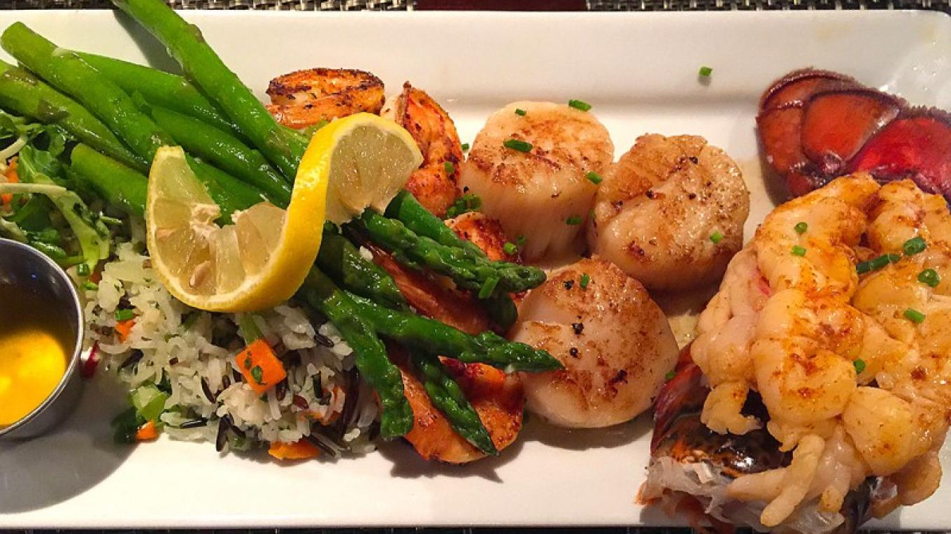 Seafood Trio dinner special – www.goldengoosegrill.com