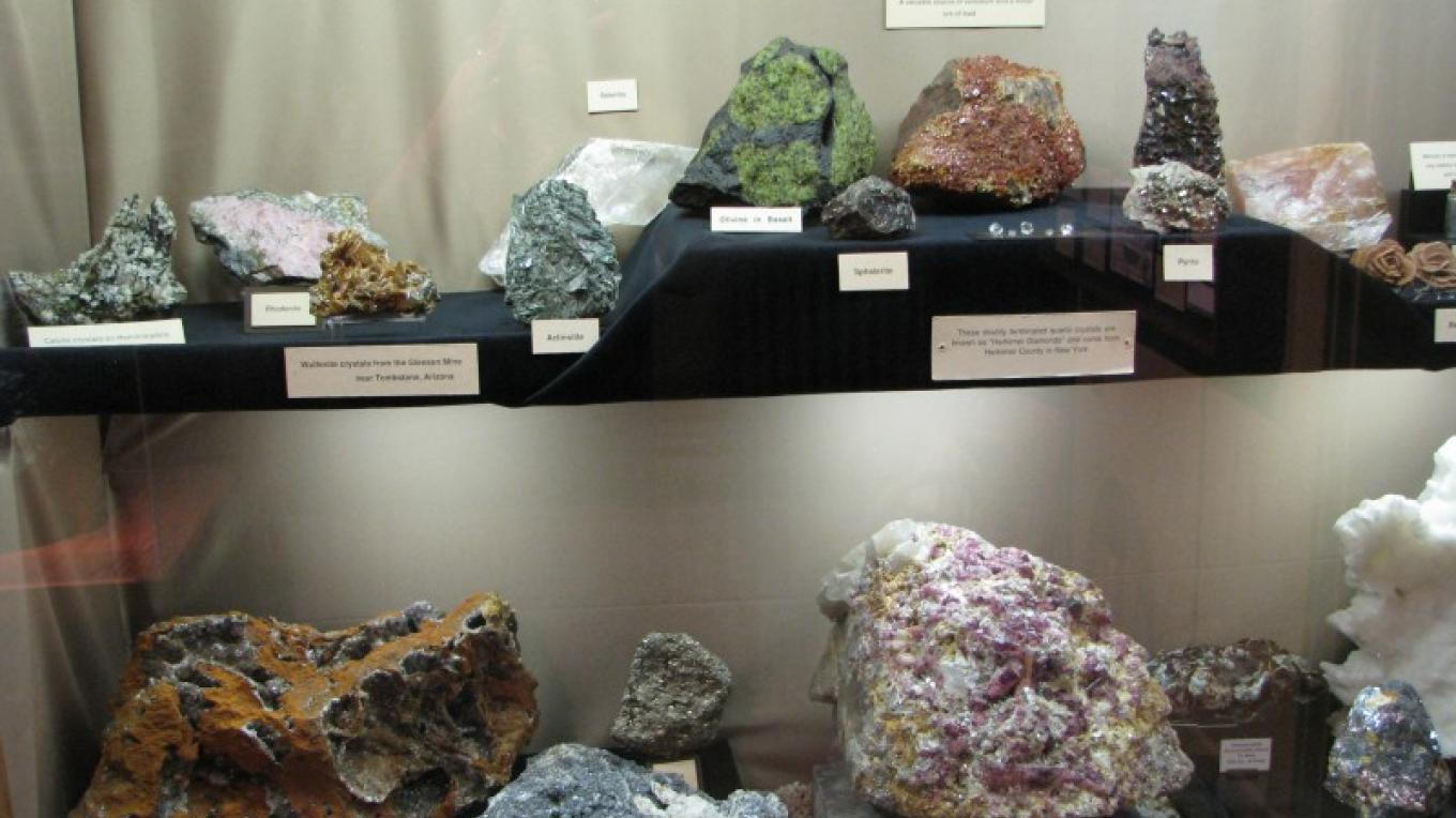 The park's mineral display is impressive. – Arizona State Parks
