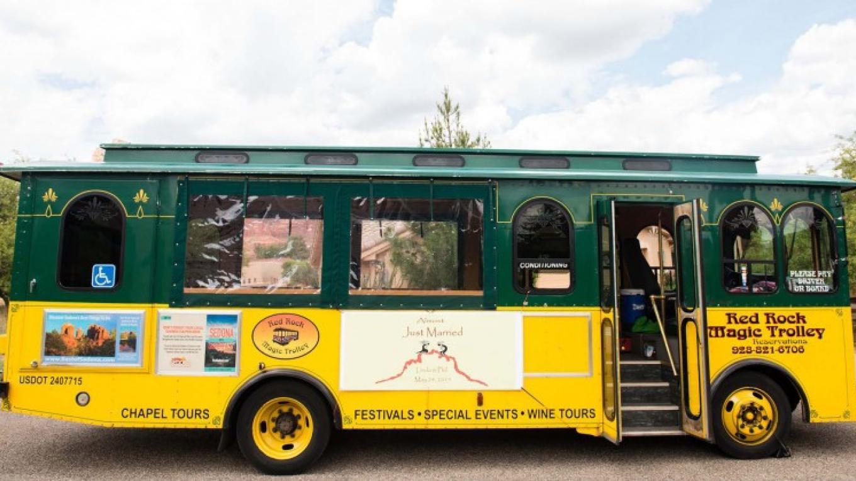 Weddings are more fun on Red Rock Magic Trolley!