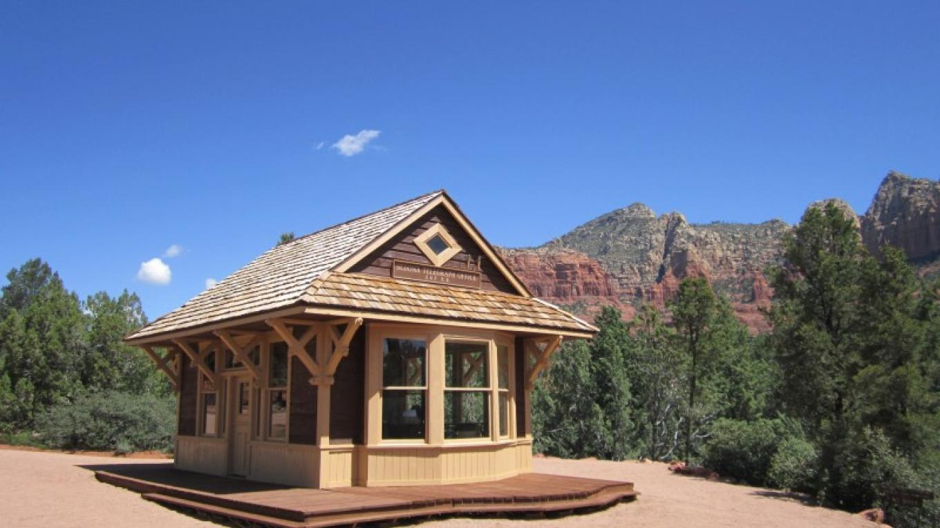 The Telegraph Office building from the 1940s era Sedona movie set has been restored