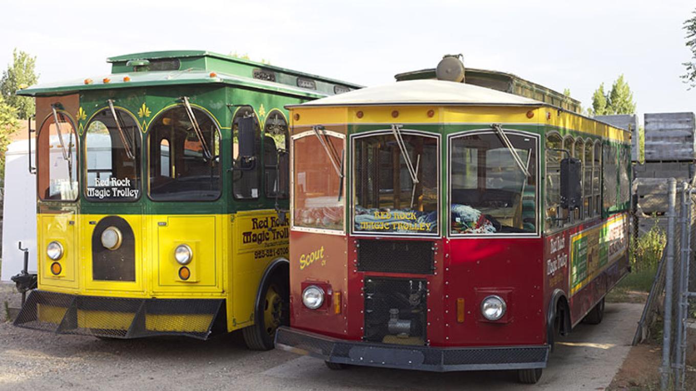 Meet our unique trolleys... Geronimo & Scout!