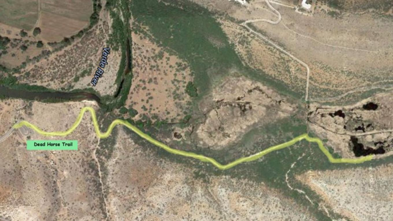 The Dead Horse Ranch State Park Route – Adapted from Google Earth