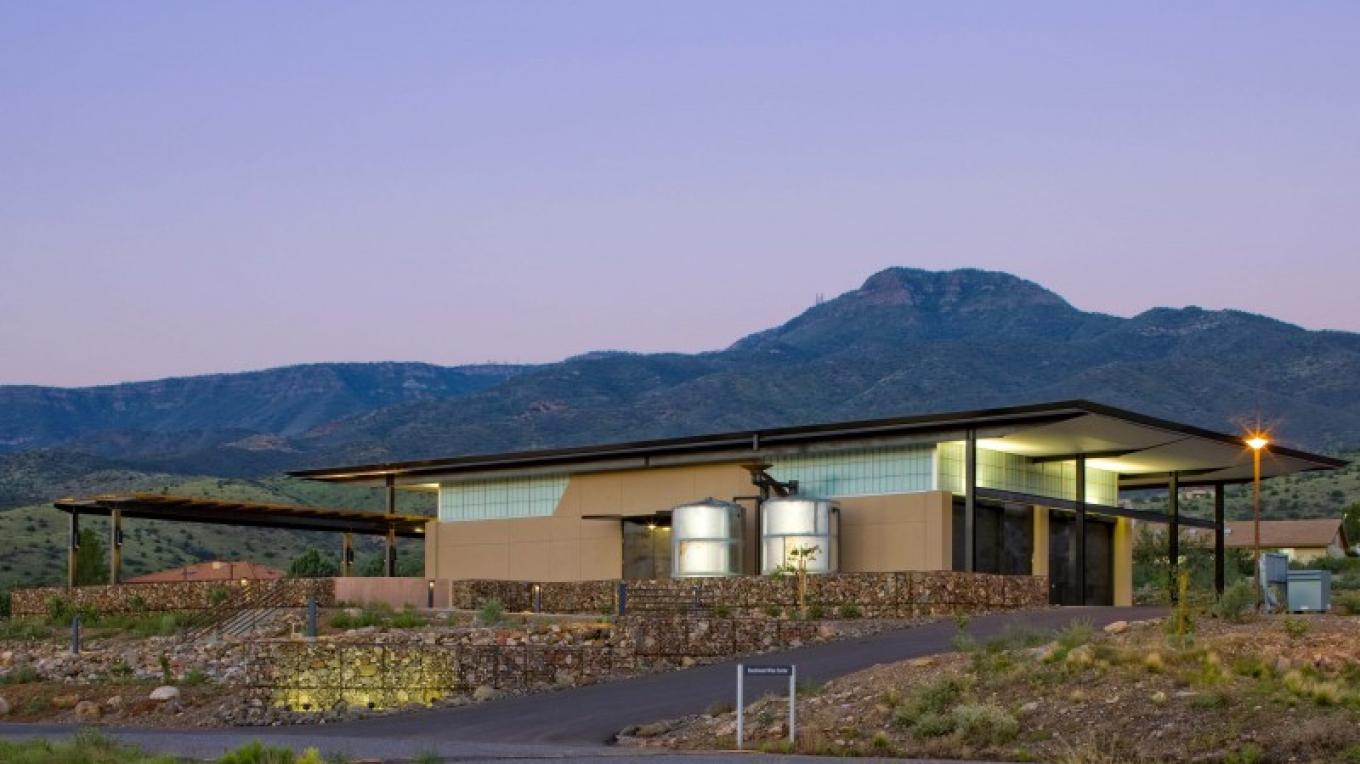 The Southwest Wine Center was designed with the capacity to produce 3,000 cases of wine annually. – Patrick Coulie