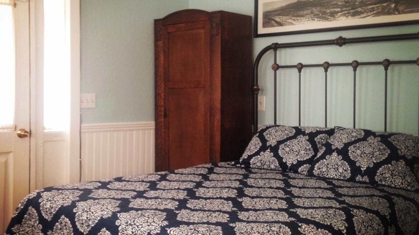 Our studio cottage offers simple comforts with historic décor. – M. Murphy