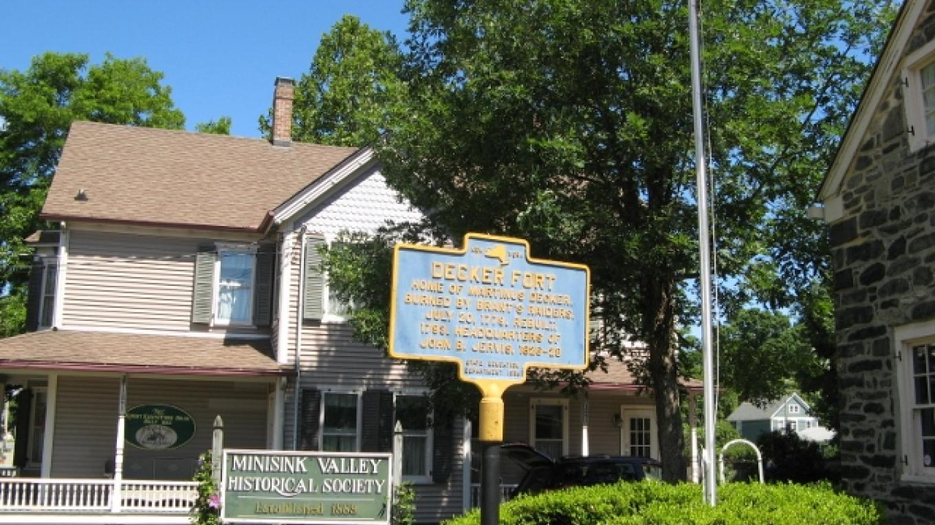 The Tour begins at the Minisink Valley Historical Society's headquarters and Fort Decker – Minisink Valley Historical Society