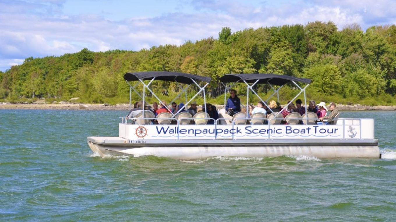 Sit back and relax on one of our patio boats... watch for wildlife as you cruise around the lake. – Wallenpaupack Scenic Boat Tour