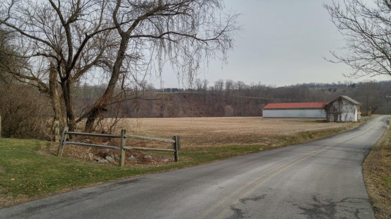 Views of the trail include scenic farmland. – Thomas Petrucci
