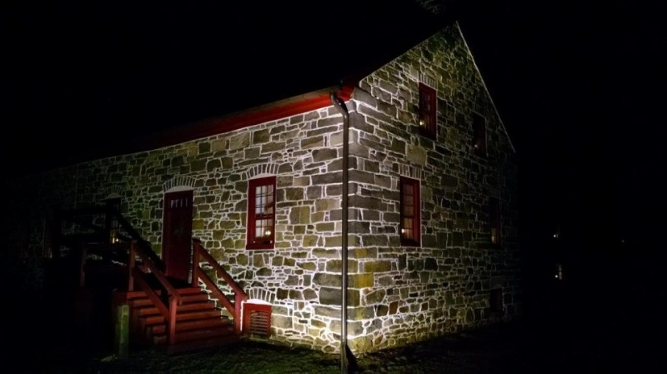 Farmhouse at night – Harmony Township Historical Society