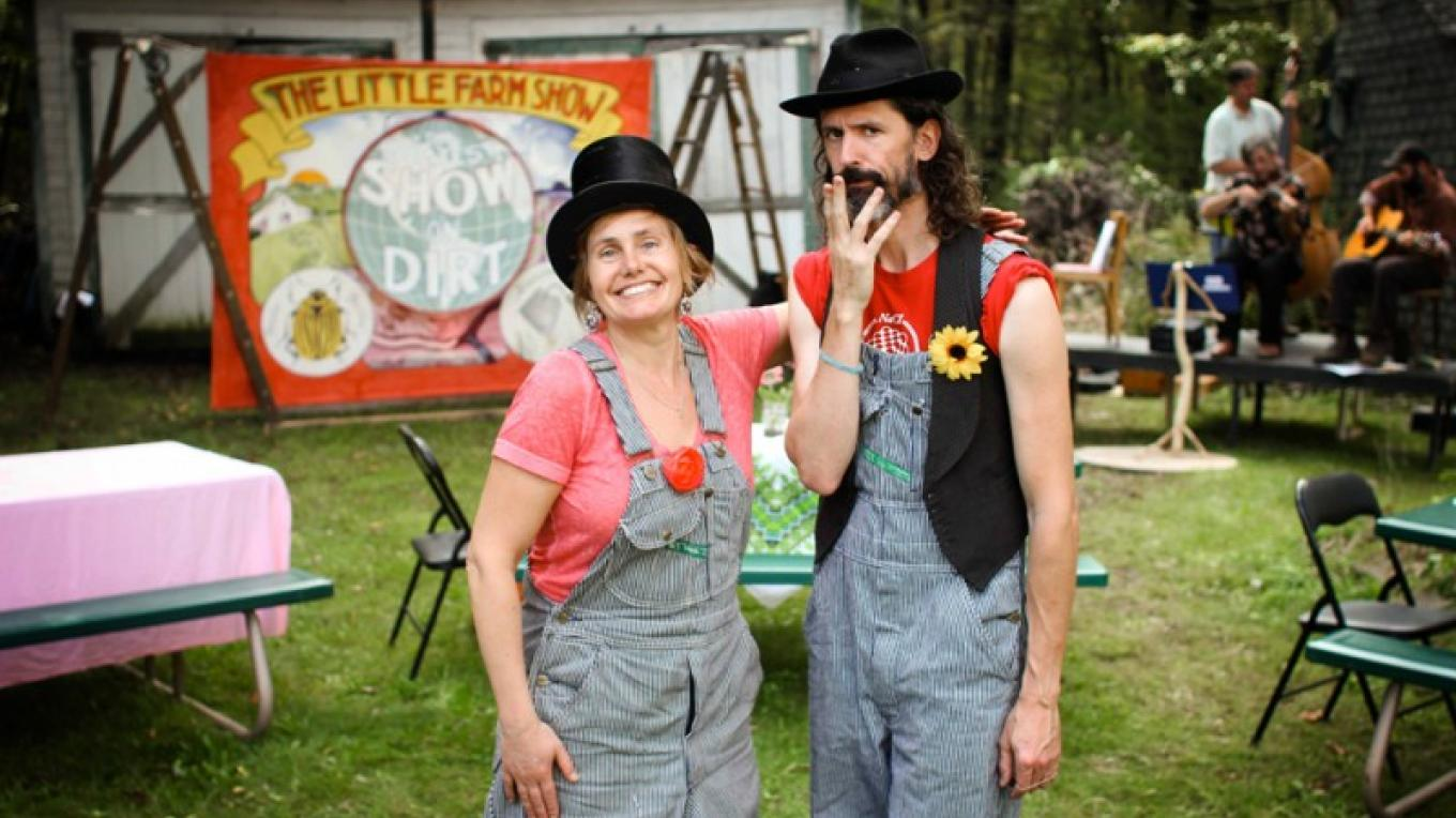 "An all-ages musical extravaganza about FARMING, FOOD, and the ENVIRONMENT. The Magnificent MacDonald twins give audiences a whirlwind tour of ""The Greatest Show on Dirt!"" – Andrew Plotsky"