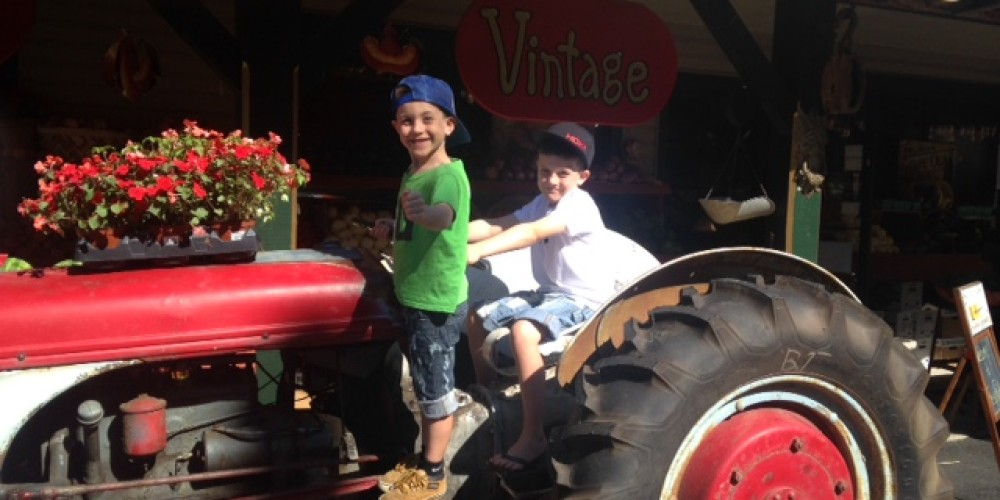 Two young pickers love to visit Eberhardt's Fresh Pickins. – Jeanie Eberhardt