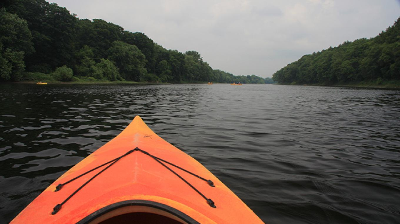 Kayaking down the Delaware River. – National Park Service