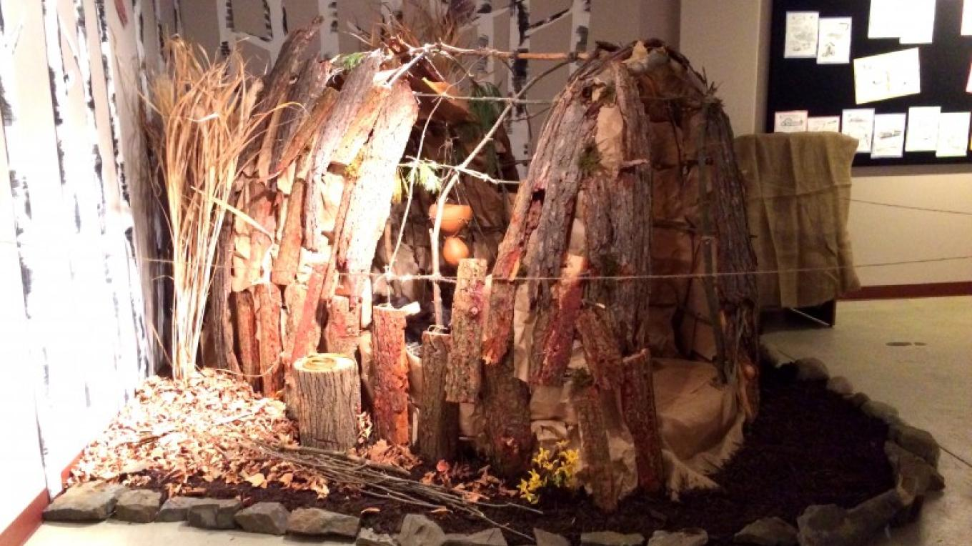 Lenape longhouse in the Children's History Lab – WCHS