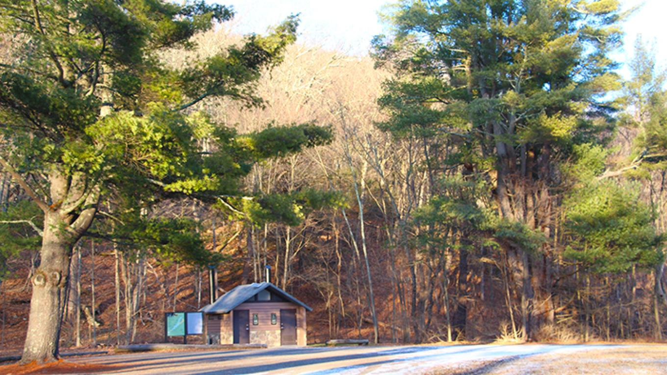 Nearby to Egypt Mills, Tom's Creek has restrooms, a picnic area, and a short creekside hiking trail. – National Park Service