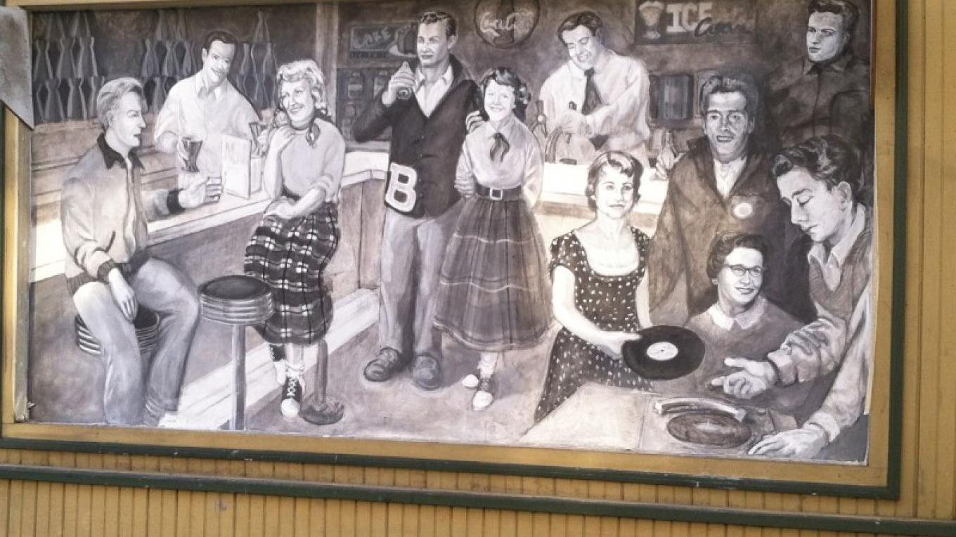 """the Soda Shop"" at 103 S. 1st Street (rt. 191) Bangor – Photograph by: Totts Gap Arts Institute"