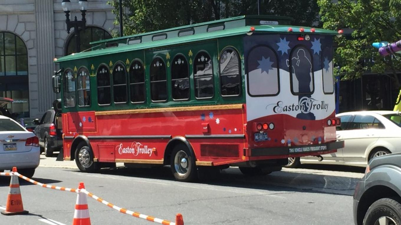 Free trolley throughout the historic center of Easton PA – Mayor Sal Panto, Jr.