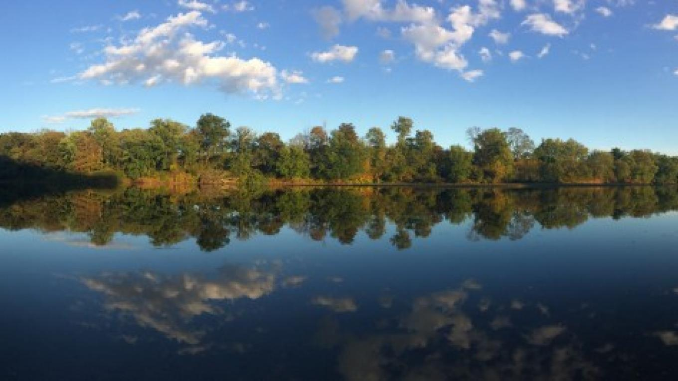 Panoramic view from Bushkill Boat Launch – National Park Service