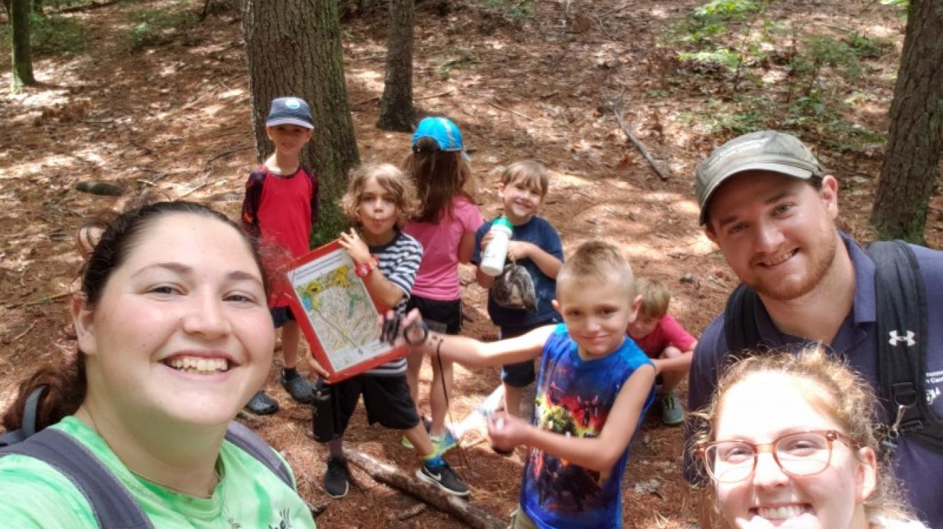 Learning Map & Compass Reading through Orienteering – PEEC Staff Photos