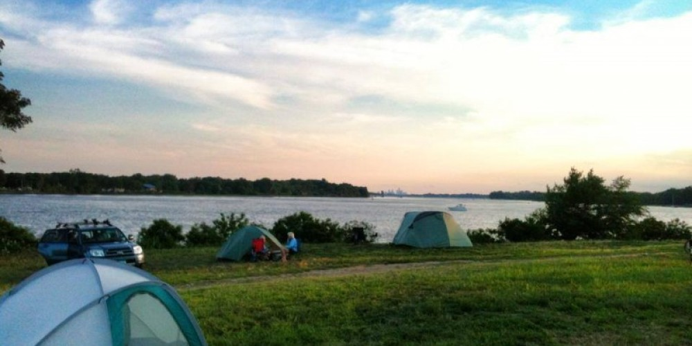 A beautiful morning in Neshaminy State Park; what a view to rise and shine to before paddling on the Delaware River Sojourn. – Delaware Canal State Park