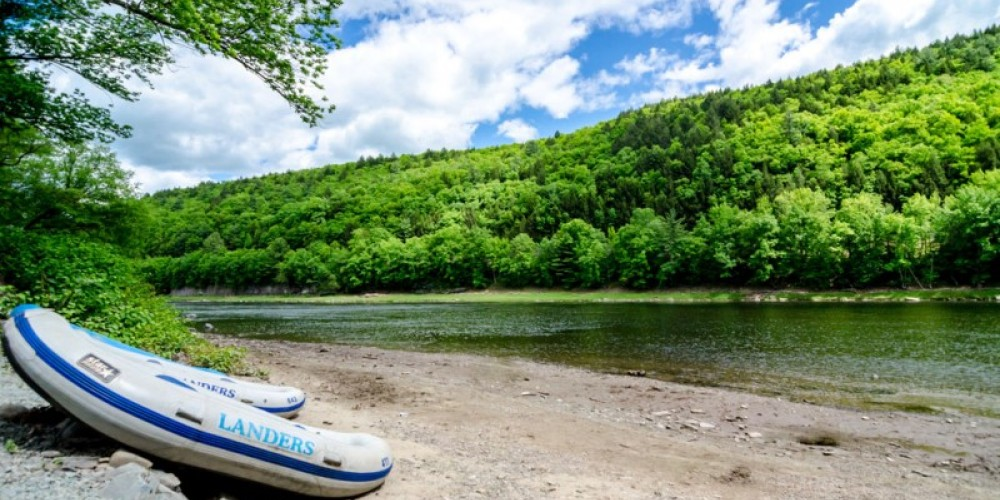 View of the river from the campground – Lisa Lander