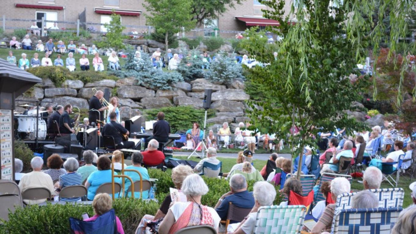 Visitors enjoy a concert in the Pleasure Garden. – Liz Brandl