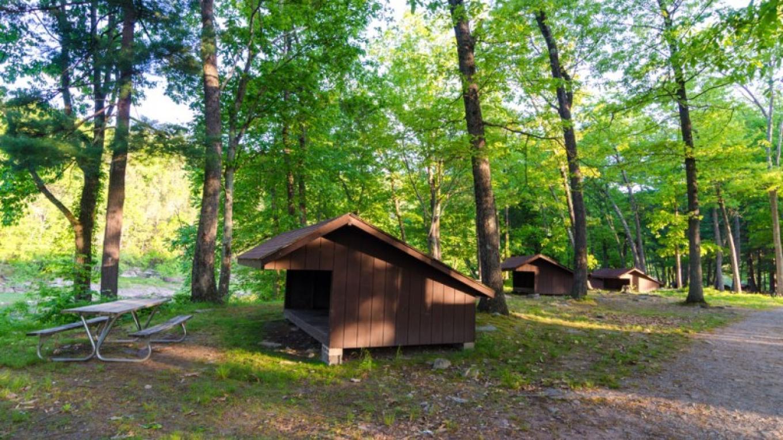 Riverfront lean-to sites – Lisa Lander