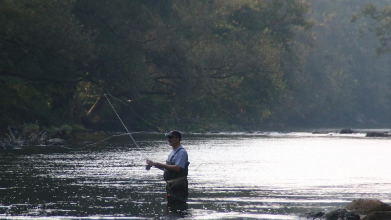 Fly fishing in Brodhead Creek. – Nancy J. Hopping