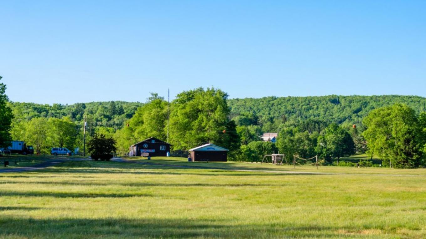 Open field area for family and group activities - soccer, football, bonfires, etc – Lisa Lander