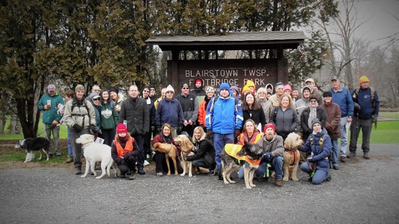 The 31st Annual New Year's Day Hike drew 49 hikers and 11 dogs! – Martin Grossman