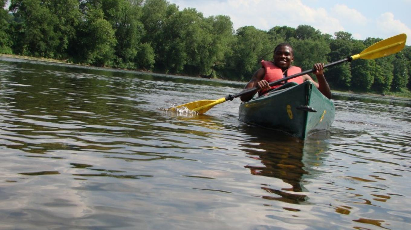 Inspiring the next generation of Parks Supporters. Pictured: A teenager enjoys paddling. – Gina Bertucci