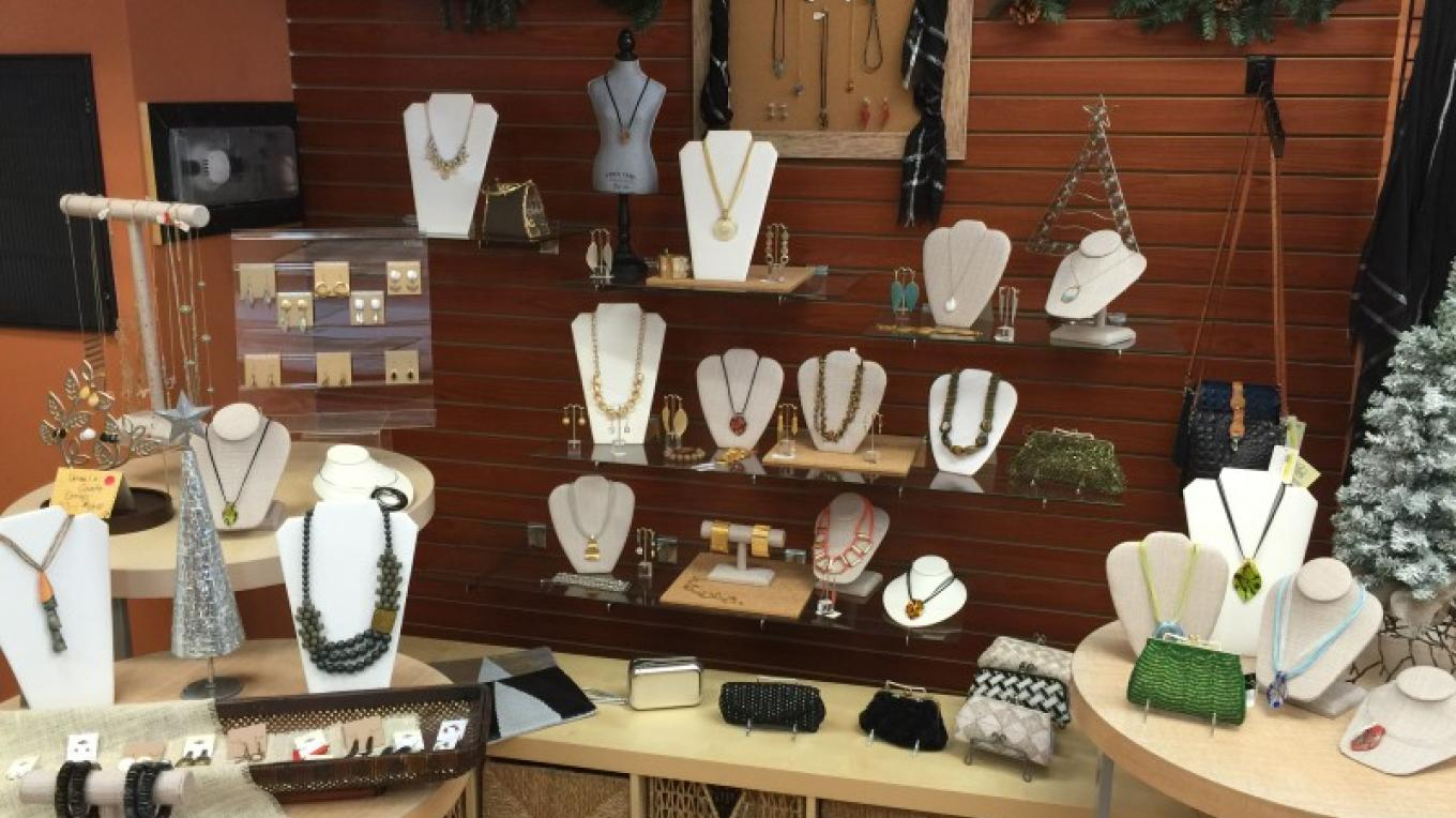 A sampling of PB&J's jewelry. Murano glass, upcycled wood, and piano wire jewelry, are just a few of the unique pieces you'll find among our collections. – PB&J Stores