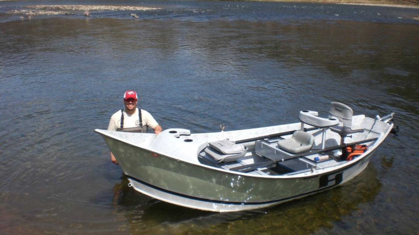 Ryan getting ready for a drift boat trip on the East Branch of the Delaware River. – Alicia Fifield