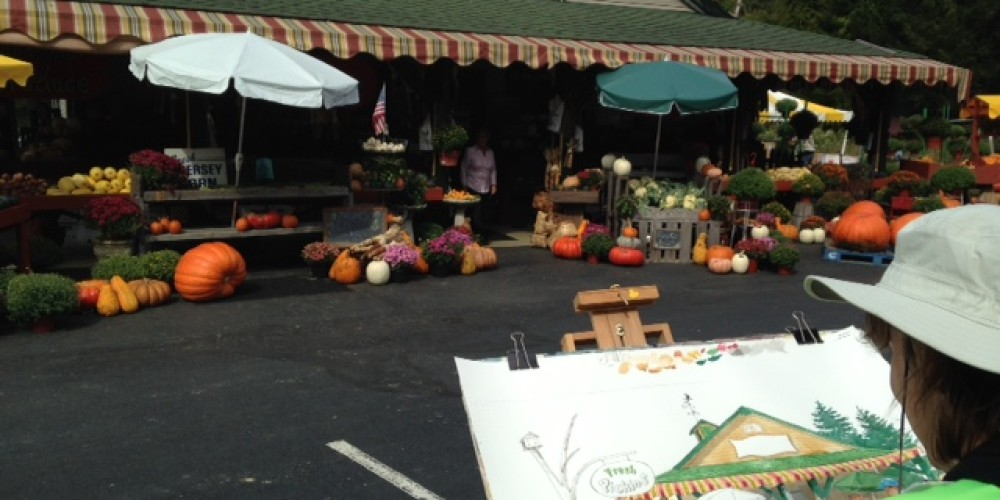 Customers are inspired by the beautifully displayed produce at Eberhardt's Fresh Pickins. – Jeanie Eberhardt