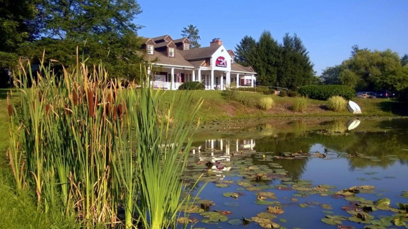 Picturesque Setting on pond – Bruce Brandli