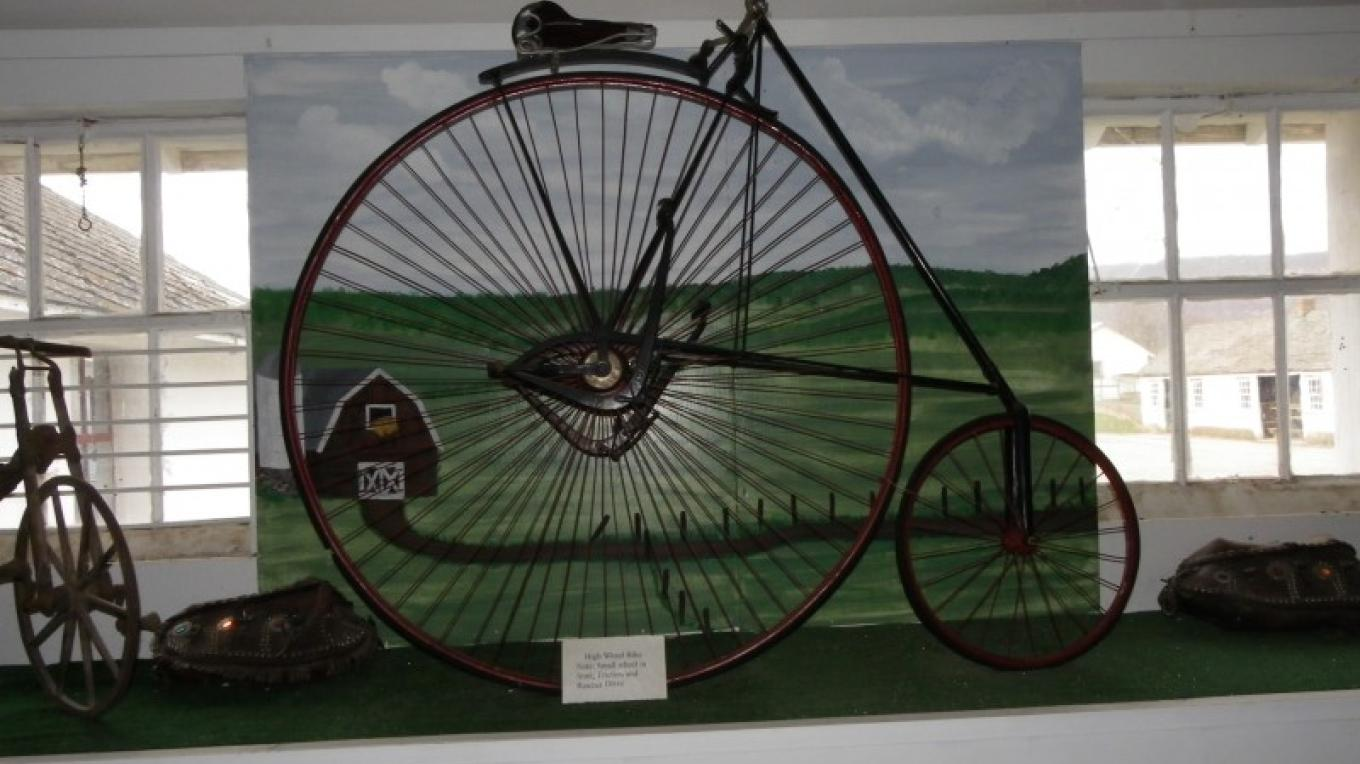 The Space Farms Museum has a wing dedicated to antique bicycles. – Lori Space Day